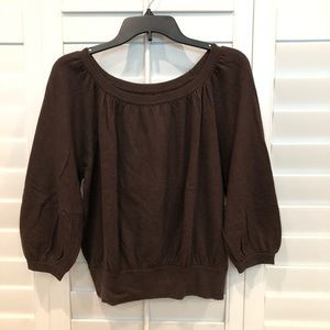 Women's Express Brown Peasant Sweater Size Small